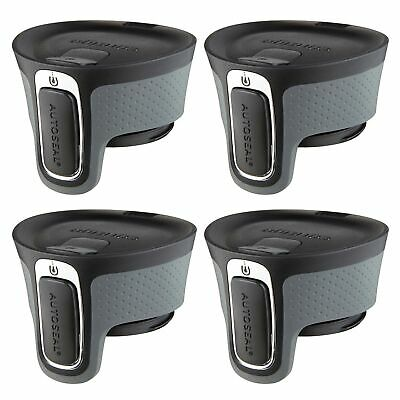 Contigo AUTOSEAL West Loop Easy-Clean Travel Mug Replacement Lid Black (4-Pack)