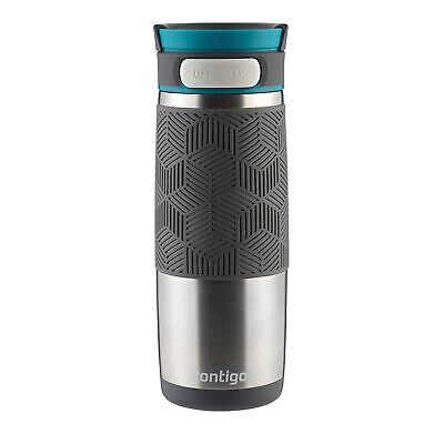 Contigo AUTOSEAL Transit Travel Mug 16oz Stainless w/ Blue Lid No-Spill (3-Pack)
