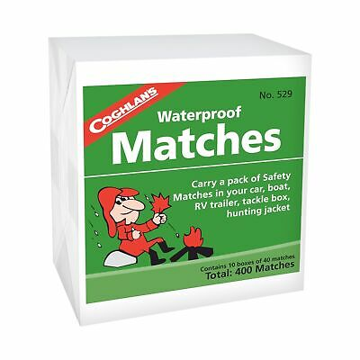 Coghlan's Waterproof Matches 400-Count Wooden Fire Starters 10 Boxes  (12-Pack)