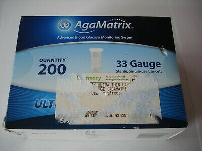 AgaMatrix Ultra-thin Lancets 33G 200 Pack
