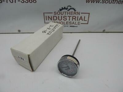 "Winters 4029-SS 200PSI 1400kPa 130°C 270°F 3"" Tridicator 9"" Stem 1/2"" NPT Gauge"
