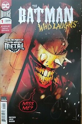 The Batman Who Laughs #1! (2018) Signed by Writer Scott Snyder!  COA!
