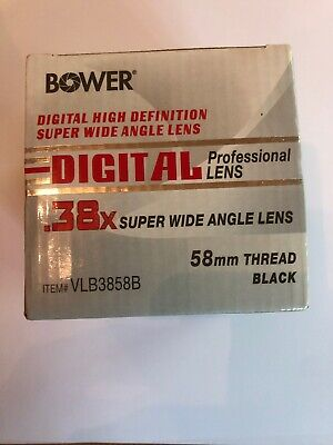 Super Wide Angle Professional Lens .38x 58mm Thread