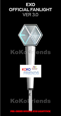 [PRE ORDER] EXO Official Fanlight Light Stick Ver 3 KPOP Merch + Gift + Tracking
