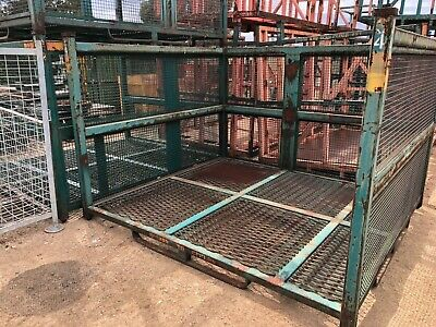Stillage - Large Square Caged 4 Sides - Heavy Duty Stackable Waste, Scrap, Wood
