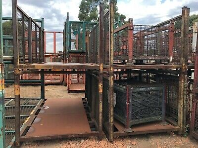 Stillage - Large Open Caged 2 Sides - Heavy Duty Stackable Waste, Scrap, Wood