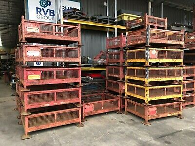 Stillage - Sml Open Top Caged - Heavy Duty Stackable Waste, Scrap, Wood Store