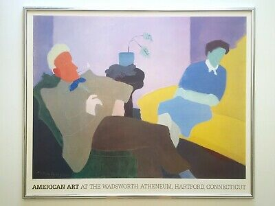 "Milton Avery Rare 1984 Lithograph Print Lrg Framed Poster ""Husband & Wife"" 1945"