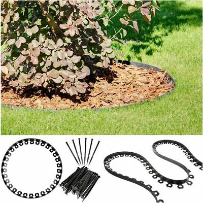 Garden Border Lawn Grass Edge Flexible Edging  Black Plastic  Easy Install