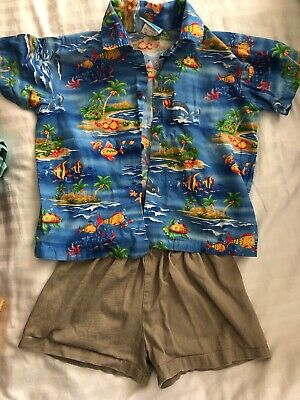 Authentic RJC Hawaiian Shirt Boys 4T Hawaii Island Palms