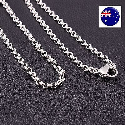 Men Women silver color 316L Surgical Stainless steel Titanium Chain Necklace