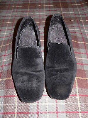 4f5030951 Peal & Co Brooks Brothers Black Velvet Prince Albert Slippers Loafers, ...