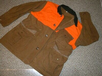 75659558c00ff Vintage Rare Filson Upland Bird Wax/Tin Coated Hunting Coat Style 62B Size  46 Ec