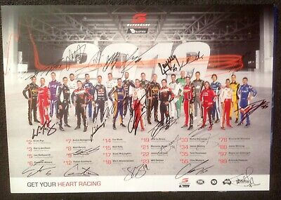 V8 Supercars Handsigned  @ Winton 2019 Drivers Poster