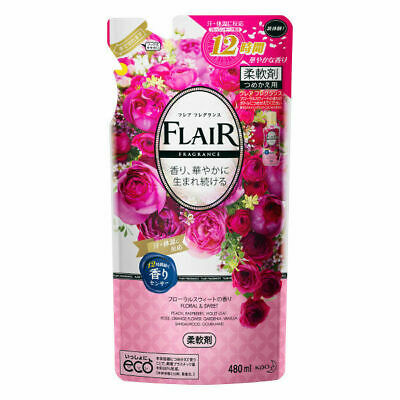 Kao Japan FLAIR FRAGRANCE Laundry Fabric Softener Floral & Sweet 480ml Refill