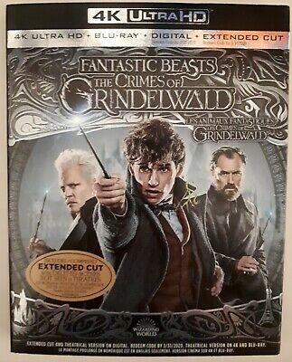 Fantastic Beasts The Crimes of Grindelwald - 4K Ultra HD NEW SEALED