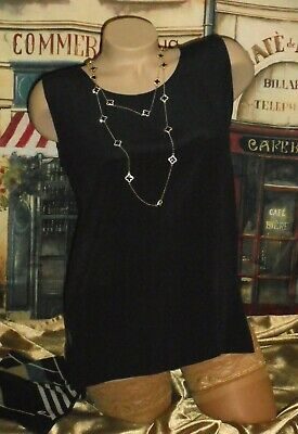 USA XL Black Calvin Klein Sleeveless Knit Top Blouse Shell NWOT