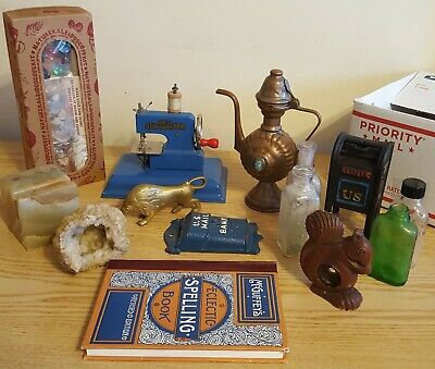 Antique Vintage Junk Drawer Lot w/ No Junk, Great to Collect or Resell