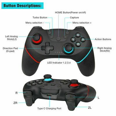 Bluetooth Wireless Gamepad Joystick Pro Controller For Nintendo Switch HighQ