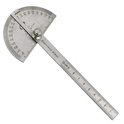 Stainless Steel 180 degree Protractor Angle Finder Arm Measuring Ruler Tools JF