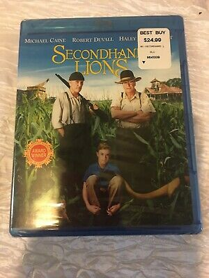 SECONDHAND LIONS Blu-Ray + DVD 2-Disc Set, No Slipcover >NEW<