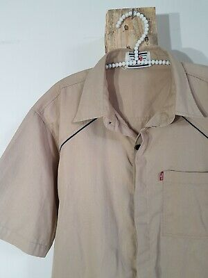 Vintage 80s 90s Levi Kaki Short Sleeve Button Up Shirt