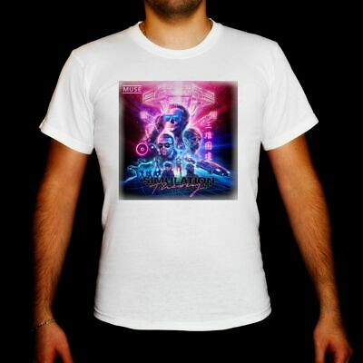 muse Simulation Theory MEN WHITE t-shirt MUSE TOUR 2019 shirt clothing unisex