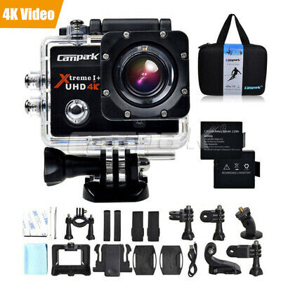 Campark 4K Sports Action Camera 16MP WiFi LCD Dual Waterproof Diving Camcorder