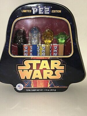 NEW Sealed STAR WARS Limited Edition PEZ Candy Collectible Darth Vader Tin SET