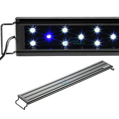 "AQUANEAT Aquarium LED Light 24"" 0.5W Blue & White Marine FOWLR"