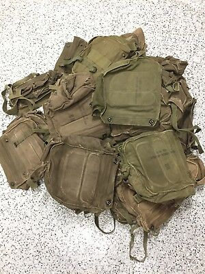 Lot of 36 US Army Gas Mask CANVAS BAG Chemical Biological Field M17 Series