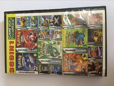 369 in 1 Multicart Collection Games Cartridge For GBA Game Boy Advance SP DK