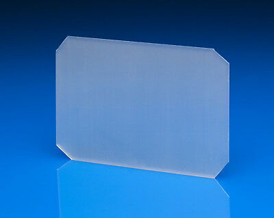 """5 (five) pieces 4""""x5 Ground Glass with clipped corners ,NEW"""