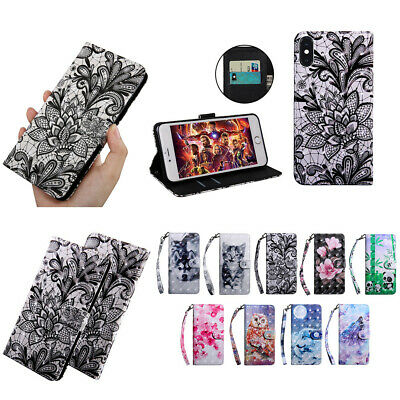 """for iPhone X XR 6.1"""" XS Max 6.5"""" PU Leather Handbag Wallet Case Stand Flip Cover"""