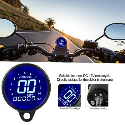 MOTORCYCLE DIGITAL LED LCD Odometer Speedometer Tachometer