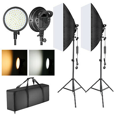 LED Light Head 20x28 inches Softbox Lighting Kit and Light Stand for Photography