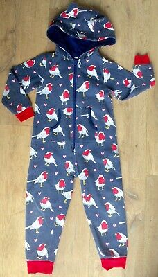 John Lewis 5 yr girl warm jersey all in one lounge suit blue christmas pyjamas