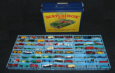 Matchbox 1960's Die-Cast Group Lot of 68 with 72 Car Case