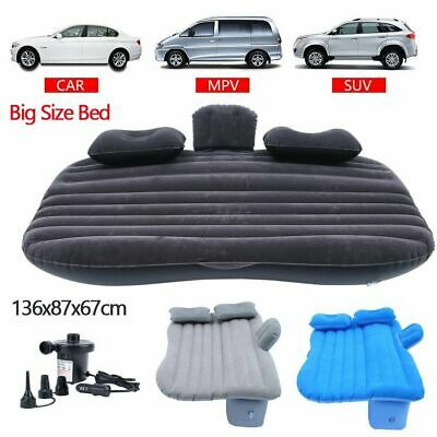 Inflatable Travel Car Air Mattress Bed Back Seat Sleep Rest Mat With Pump AT