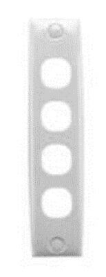 Clipsal STANDARD SERIES ARCHITRAVE MOUNTING PLATE 140x32mm 4-Gang Flush CREAM