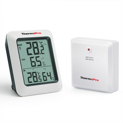 ThermoPro TP60 60M Wireless Digital Hygrometer Indoor Outdoor Thermometer
