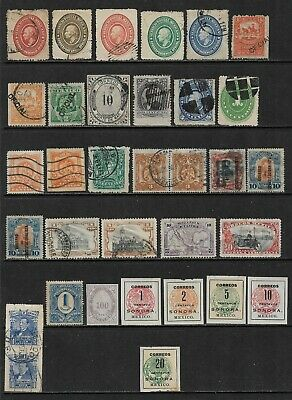 MEXICO Interesting & Diverse Early Mint and Used Issues Selection (Jul 005)