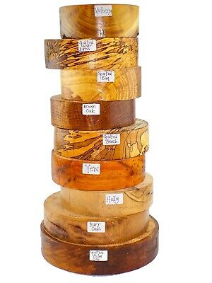 Premium Woodturning bowl blanks gift selection box.  Spalted, Burr, Quarter sawn