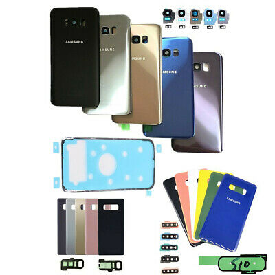 Genuine For Samsung Galaxy S8 S9 S10+ Note8 Back Glass Battery Cover Camera Lens