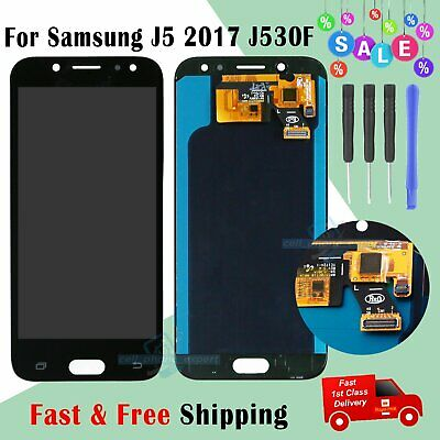Black For Samsung Galaxy J5 2017 SM-J530F LCD Touch Screen Digitizer Replacement