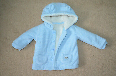 Baby Boy Jacket Coat Super Soft 9-12 months Tesco F&F with Ears