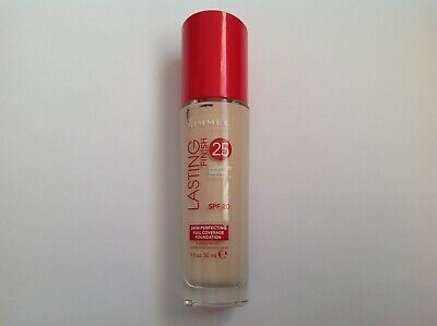 RIMMEL LASTING FINISH 25HR FULL COVERAGE FOUNDATION various shades 30ml
