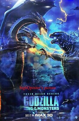 Godzilla: King of the Monsters 27x40 DS LIGHT BOX POSTER Imax King Ghidorah