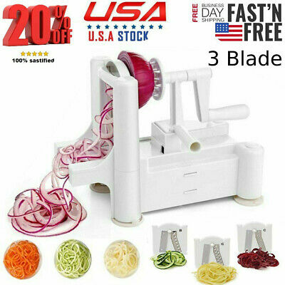 Vegetable Spiralizer Spiral Slicer 3Klingen Zucchini Spaghetti Past Noodle H4E0