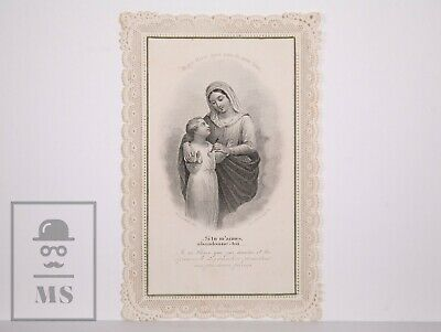 Antique Paper Lace Holy Card - Virgin Mary - Letaille Ed., France